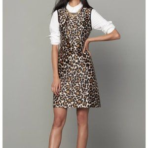 J. Crew Leopard Print A-Line Shift Dress Sz 8